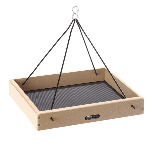 """FEEDERS BIRDS CHOICE 16""""X13"""" RECYCLED HANGING TRAY FEEDER"""