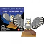 KIDS MINI BUILDING BLOCKS KIT GREAT HORNED OWL 392 PC.