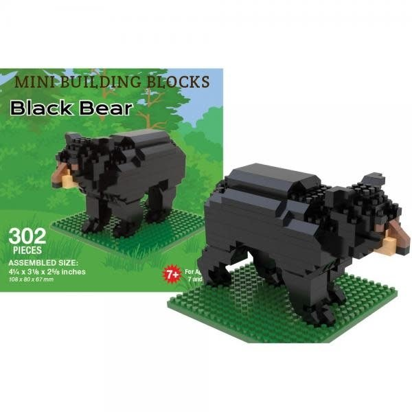 KIDS MINI BUILDING BLOCKS KIT BLACK BEAR  358 PC.