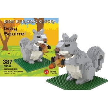 KIDS MINI BUILDING BLOCKS KIT GRAY SQUIRREL 387 PC.
