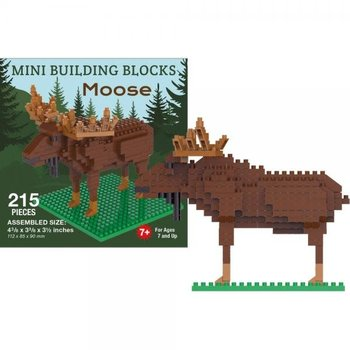 KIDS MINI BUILDING BLOCKS KIT MOOSE 210 PC.