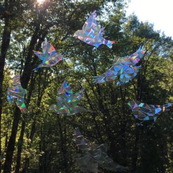 HHOLD WINDOW GEMS BIRDS (PRISM)