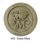 """GARDEN MASSARELLIS STONE 24"""" CELTIC CROSS GREEN MOSS 1366-35"""