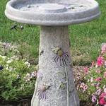 BATHS MASSARELLIS STONE HONEYBEE BIRD BATH DESIGN STAIN 9752-DS