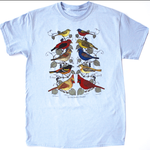 CLOTHING XLG LIBERTY GRAPHICS SONGBIRD PAIRS ADULT TSHIRT 197 LBLUE