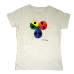 CLOTHING MED LIBERTY GRAPHICS CHARLEY HARPER LADYBUG RAINBOW LADIES V-NECK TSHIRT H29 NATURAL