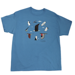 CLOTHING MED LIBERTY GRAPHICS CHARLEY HARPER ROVING RAPTORS ADULT TSHIRT H36 DENIM