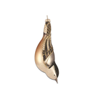 HHOLD COBANE WHITE NUTHATCH GLASS ORNAMENT