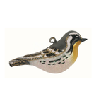 HHOLD COBANE YELLOW THROATED WARBLER GLASS ORNAMENT