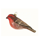 HHOLD COBANE HOUSE FINCH GLASS ORNAMENT