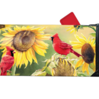 HHOLD MAGNET WORKS SUNFLOWER CARDINAL MAILBOX COVER