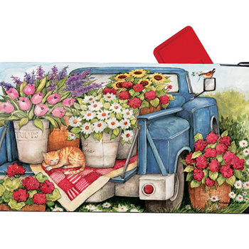 HHOLD MAGNET WORKS FLOWER PICKIN' TIME MAILBOX COVER