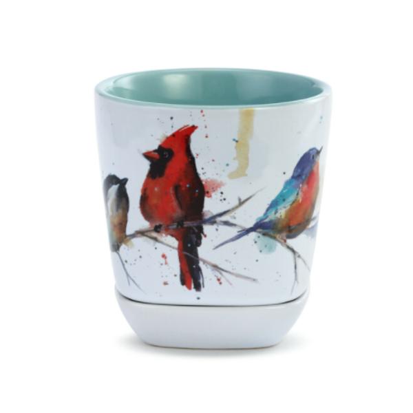 HHOLD DEMDACO LITTLE BIRD CUP AND TRINKET SET