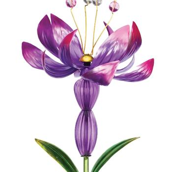 GARDEN REGAL SOLAR FLOWER SPINNER PURPLE