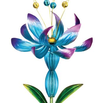 GARDEN REGAL SOLAR FLOWER SPINNER BLUE