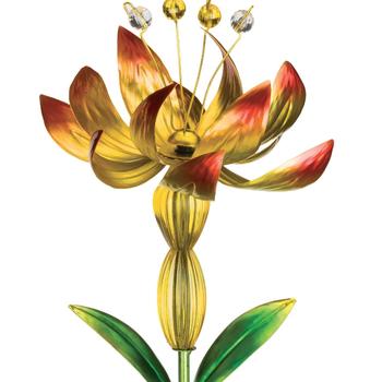 GARDEN REGAL SOLAR FLOWER SPINNER YELLOW