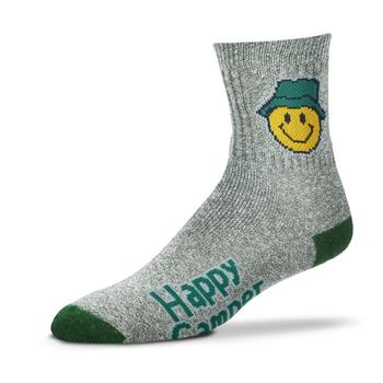 CLOTHING FOR BARE FEET SOCKS HAPPY CAMPER MEDIUM