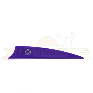 "Bohning Company, LTD Bohning X Vanes 3.5"" Shield Cut Purple 100PK- 10772PU35S"