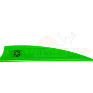 """Bohning Company, LTD Bohning X Vanes 3.5"""" Shield Cut Neon Green 100 PK- 10772NG35S"""
