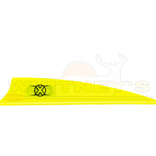 "Bohning Company, LTD Bohning X Vanes 3.5"" Shield Cut Neon Yellow 100 PK- 10772NY35S"