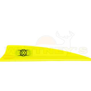 "Bohning Company, LTD Bohning X Vanes 3"" Shield Cut Neon Yellow 100PK- 10772NY3S"