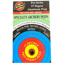 Specialty Archery, LLC Specialty Archery Pro Series 37 Degree Hooded Peep RED