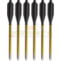 Bear Archery Bear X Desire Crossbow Mini Bolts, Black, 12PK