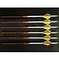 """Black Eagle Black Eagle Outlaw Arrows - White Crested - 350 Spine/.005""""- - Half Dz."""