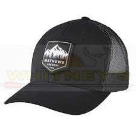 Mathews Apparel Mathews Summit Cap, Adjustable Original Trucker, Black