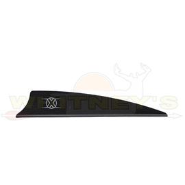 """Bohning Company, LTD Bohning X Vanes 3"""" Shield Cut BLACK 100PK- 10772BK3S"""