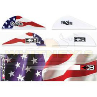 Bohning Company, LTD Bohning Blazer Vane/Wrap Combo American Flag- 101040AF