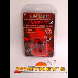 "Dead Ringer LLC Dead Ringer Rampage 100 Gr., 2 Blade, 1.5"" Cut Replacement Blades"
