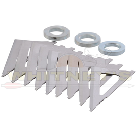 Wasp Archery Products Wasp Archery-Hammer- Replacement Blades For 85 & 100 Gr. - 9 Blades-2318