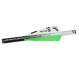"New Archery Products (NAP) NAP Quikfletch 3"" Hellfire Xbow, W/G/G, 6PK"