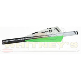 "New Archery Products (NAP) NAP Quikfletch 3"" Hellfire STD, W/G/G, 6PK-60-016"