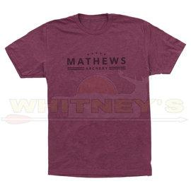 Mathews Apparel Mathews Archery Banner Tee-Shirt- Maroon- X-LARGE-70391-4A