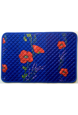 TOS Placemat, Acrylic-Coated Poppies, Blue