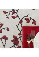 Amelie Michel Acrylic-Coated Eglantier Branch, Red
