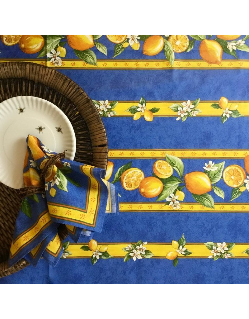 Amelie Michel Acrylic-Coated Lemons, Blue