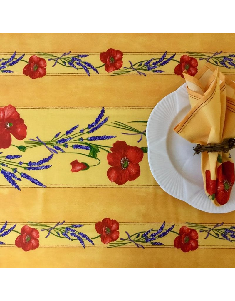 Amelie Michel Acrylic-Coated Poppies, Yellow