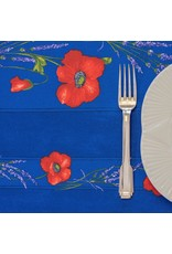 Amelie Michel Acrylic-Coated Poppies, Blue