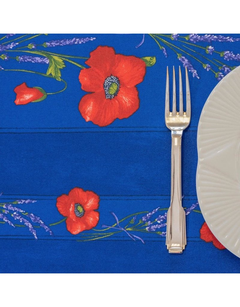 TOS Acrylic-coated Poppies Blue