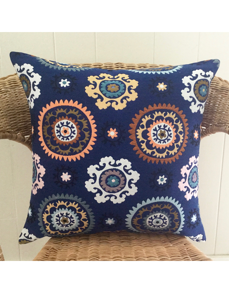 SAF Boukhara Blue Pillow