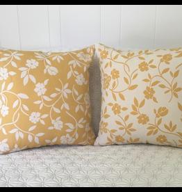 Mercurio Yellow Jacquard Pillow
