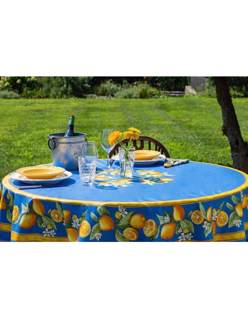 TOS Acrylic-coated Lemons Blue 70 in Round