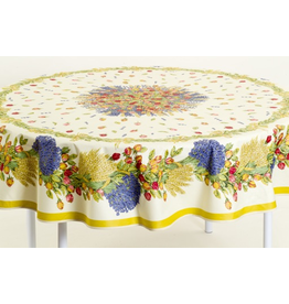 TOS Cotton Rose Lavande 70 inch Round