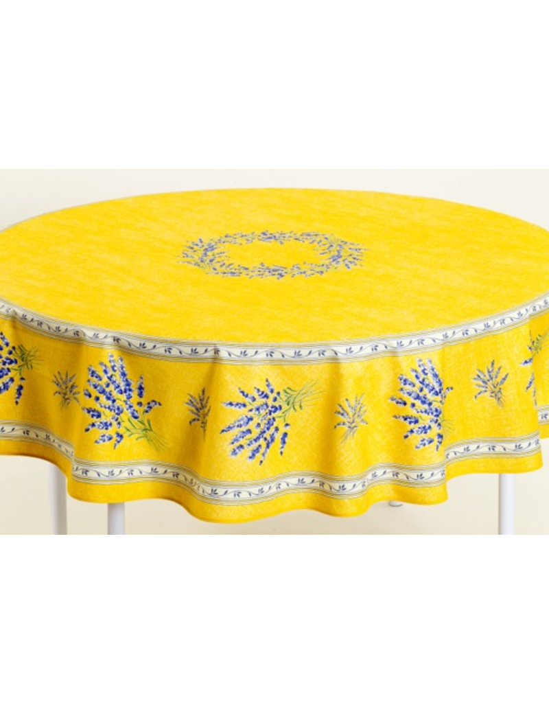 MFT Cotton Valensole Yellow 70 inch Round
