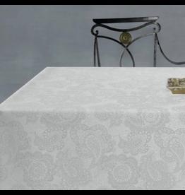 Amelie Michel Acrylic-Coated Klimt Floral, White