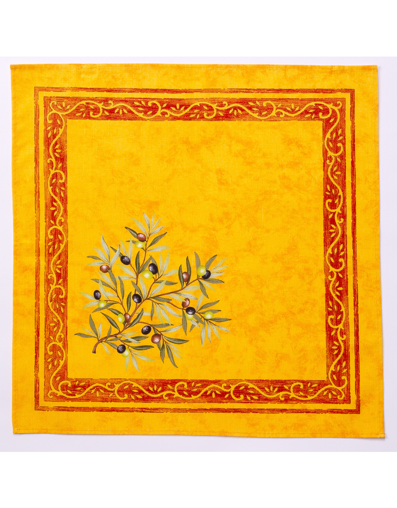 Napkin Olives Yellow