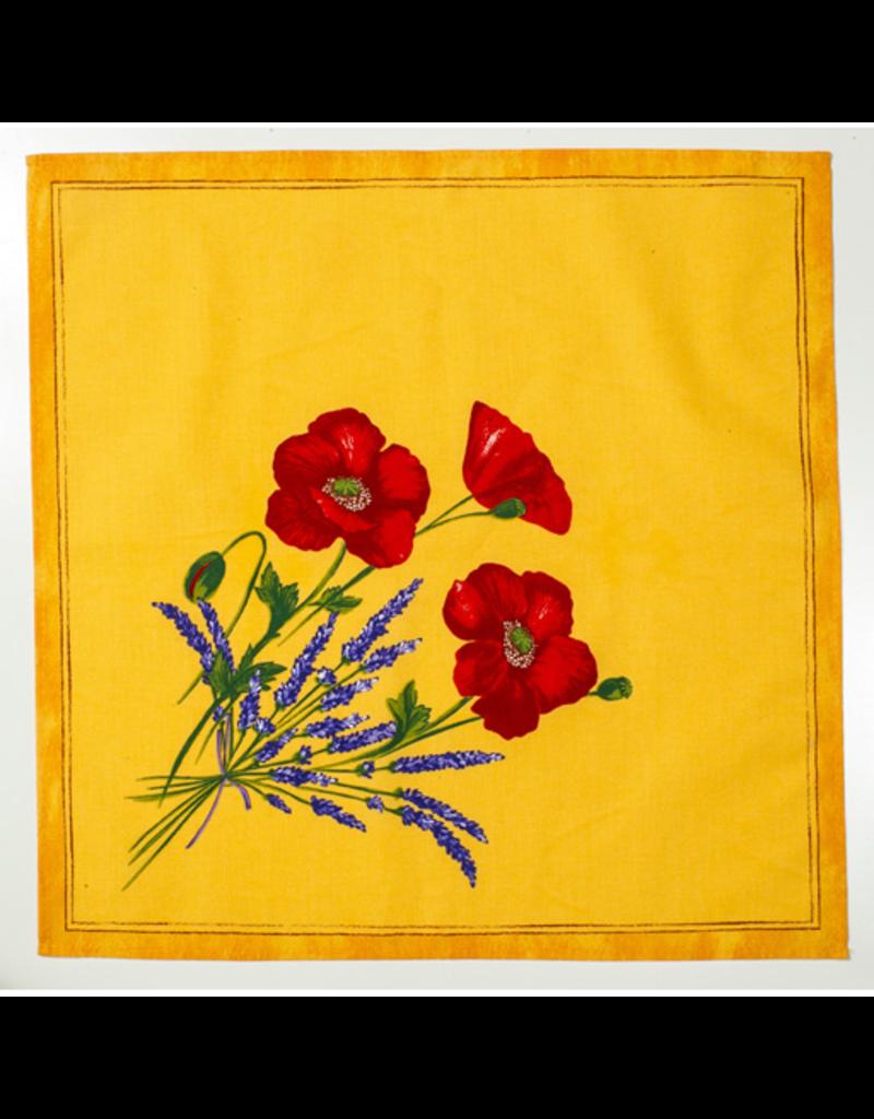 Napkin Poppies Yellow